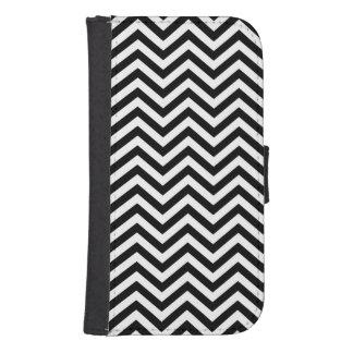 Black and White Chevron Samsung S4 Wallet Case