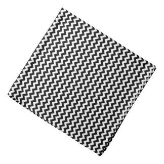 black and white chevron stripes bandana
