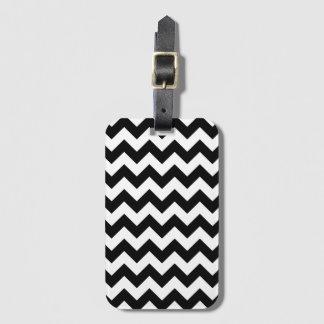Black and White Chevron Zigzag Luggage Tags