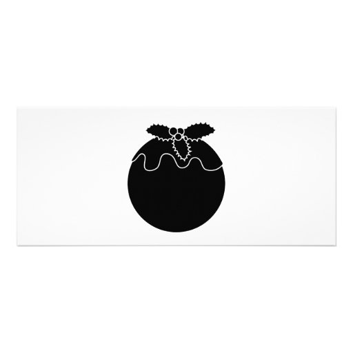 Black and White Christmas Pudding. Custom Invitations
