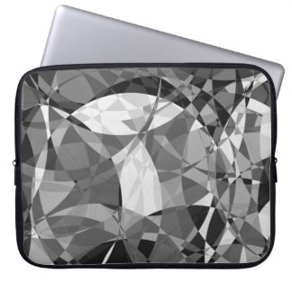 Black and white circles and squares laptop sleeve