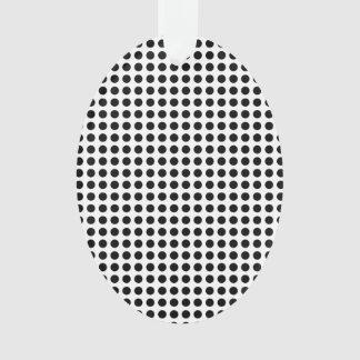 Black and White Classic Polka Dots Pattern Ornament
