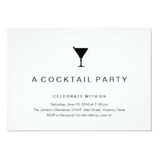 Cocktail party in black and white invitations for Cocktail party invite template