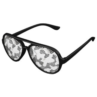 Black And White Country Cow Pattern Aviator Sunglasses
