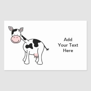 Black And White Cow Stickers Zazzle Nz