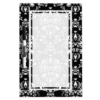 Black and White Damask Dry Erase Board