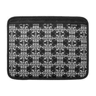 Black and White Damask MacBook Sleeve