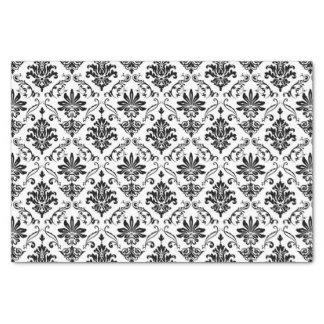 Black and White Damask Tissue Paper