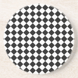 Black and White Diamond Pattern by Shirley Taylor Coaster