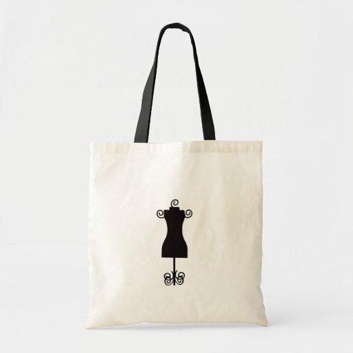 Black and White Fashion Dress Mannequin Bag