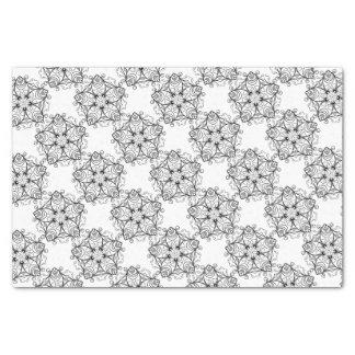 Black-And-White-Floral-Design-2 Tissue Paper