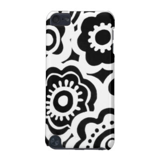 Black and White Floral Printed iPod 5 case iPod Touch (5th Generation) Cases