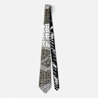 Black-And-White Fractal Eye Necktie