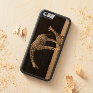 Black and White Giraffe iPhone 6 Wooden Case
