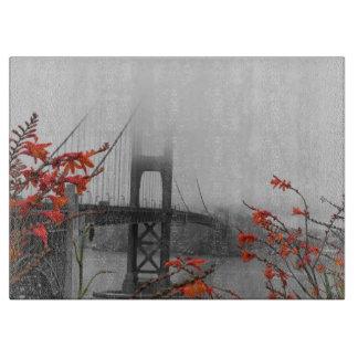 Black and White Golden Gate Bridge Cutting Board