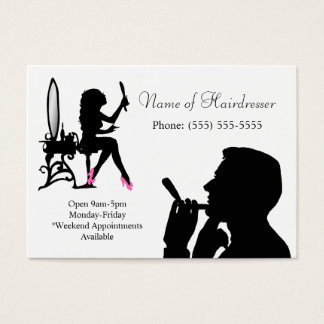 Black and White Hairdresser For Men and Women