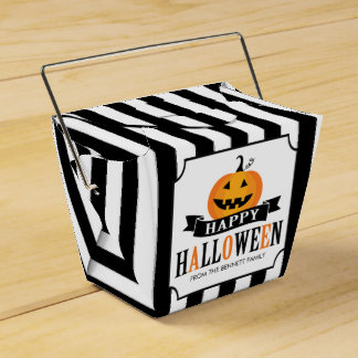 Black and White Halloween Favor Box