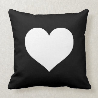 Black and White Hearts Pillows