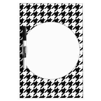 Black and White Houdstooth Pattern Dry Erase Board