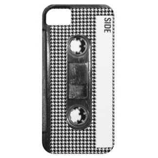Black and White Houndstooth Cassette iPhone 5 Covers