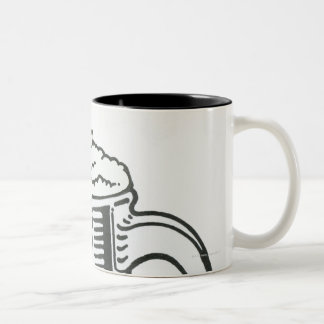 Black and white illustration of Guinness in Two-Tone Coffee Mug