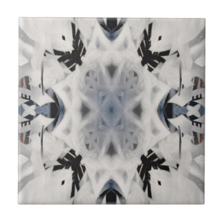 Black and white kaleidoscope graffiti tiles