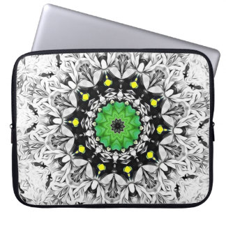Black and White Kaleidoscope Laptop Sleeve