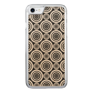 Black and White Kaleidoscope Pattern Modern Art Carved iPhone 8/7 Case