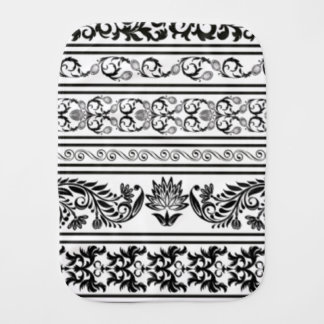 Black and White Lace Burp Cloth