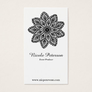 Black and White Lace Professional Event Planner