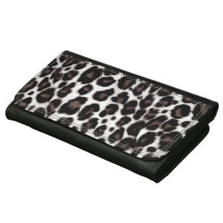 Black and White Leopard Print - Classic Stylish Women's Wallet