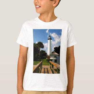 Black and White Lighthouse Jekyll Island Georgia T-Shirt