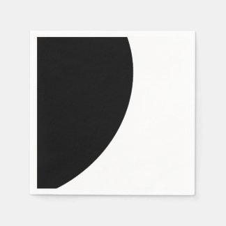 Black and White Majesty Disposable Serviette