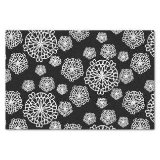 Black and White Mandala Pattern Tissue Paper