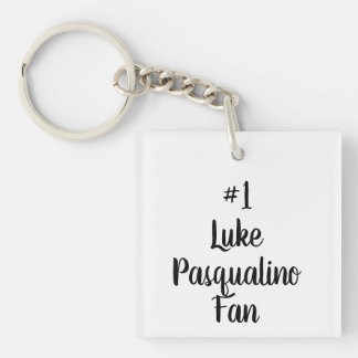 Black And White Number 1 Luke Pasqualino Fan Key Ring