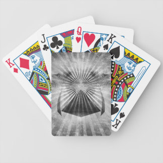 Black and White Oasis Grunge Art Bicycle Playing Cards