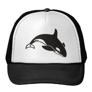Black and White Orca Killer Whale Mesh Hats
