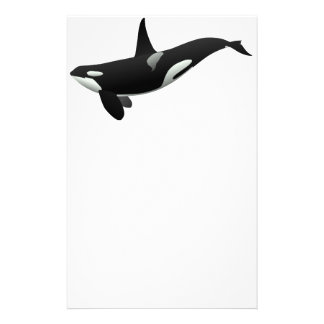 Black and White Orca Killer Whale Custom Stationery