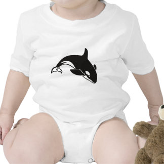 Black and White Orca Killer Whale Baby Creeper