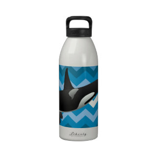 Black and White Orca Killer Whale Drinking Bottles