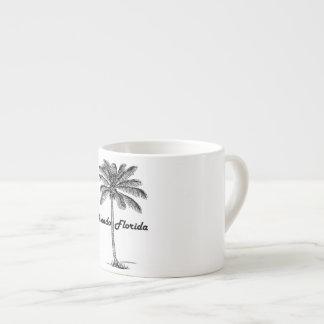 Black and White Orlando & Palm design Espresso Cup