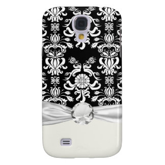 black and white ornate funky damask galaxy s4 case
