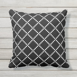 Black and White Outdoor Pillows Scandinavian