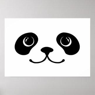 Black And White Panda Cute Animal Face Design Poster
