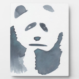 Black and White Panda Plaque