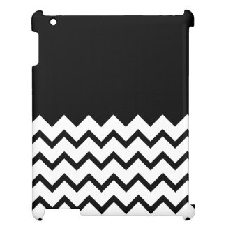 Black and White. Part Zig Zag, Part Plain Black. iPad Covers