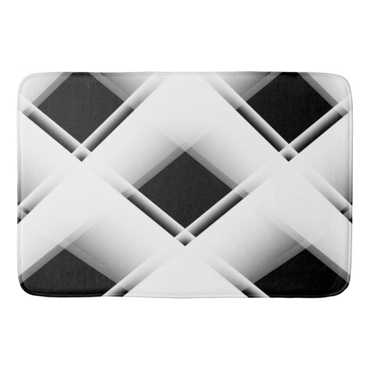 Black And White Pattern Bath Mats Zazzle