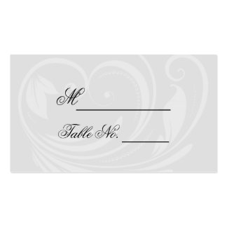 Black and White Pinstripe Heart Wedding Place Card Business Card Templates