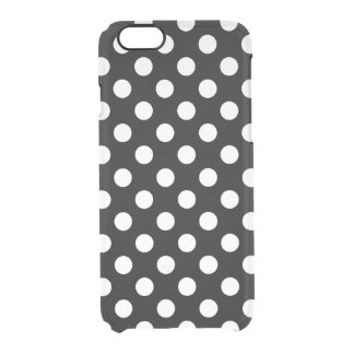 Black And White Polka Dot Pattern Clear iPhone 6/6S Case
