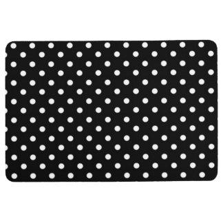 Black and White Polka Dot Print Floor Mat